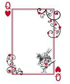 Alice In Wonderland Clipart border 3.