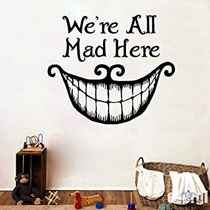 Amazon.com: Alice In Wonderland Wall Decals Quote We\'re All.