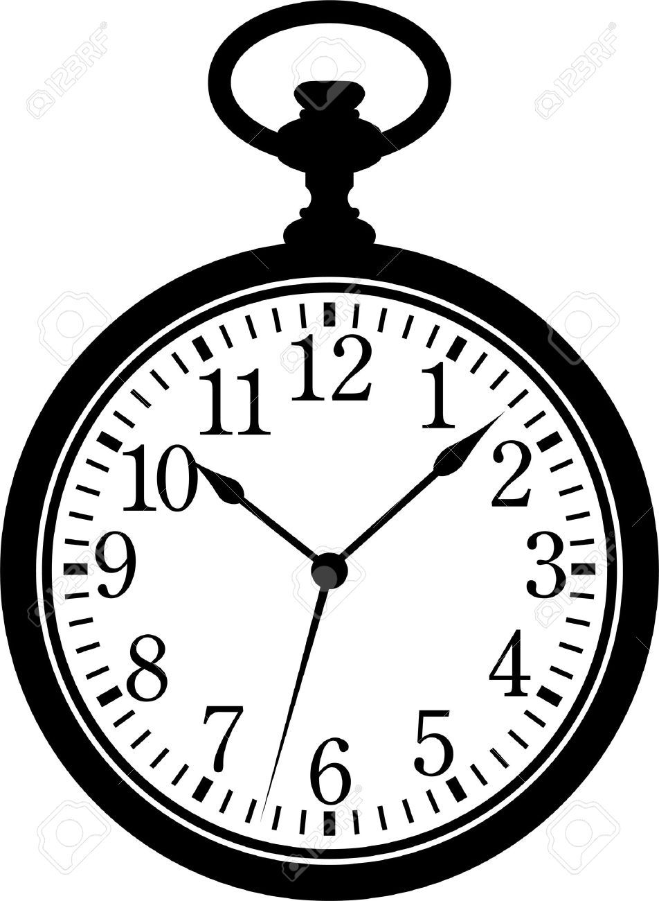white rabbit clock template.