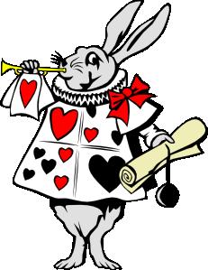 Rabbit From Alice In Wonderland clip art.