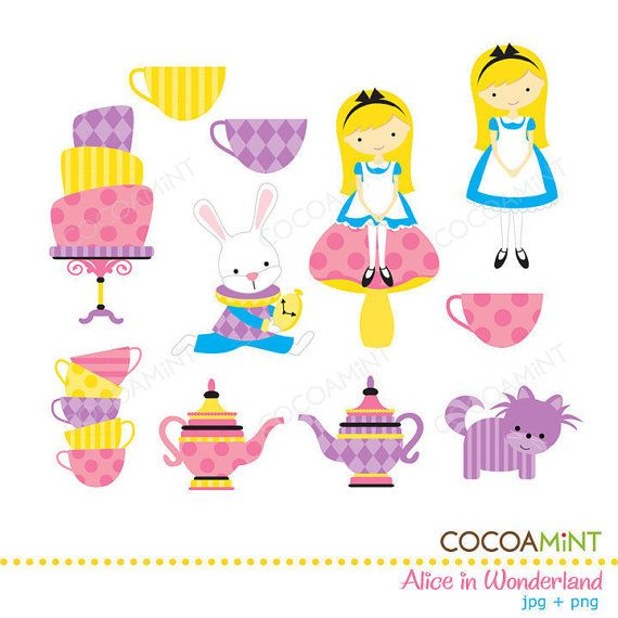 Alice In Wonderland Party Ideas on Clipart library.