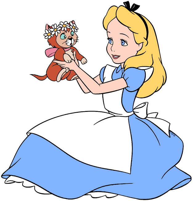 Alice and Dinah Clip Art.