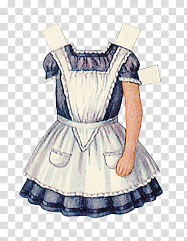 Alice in Wonderland s, maid costume illustration transparent.