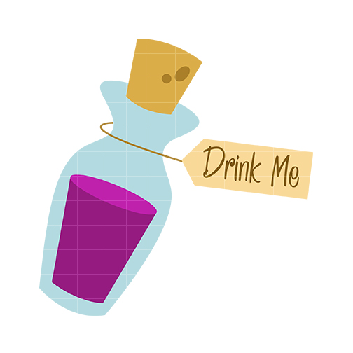 Drink Me Bottle Clipart.
