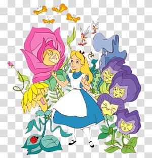 Of bunny wearing eyeglasses holding pocket watch, Alice\'s.