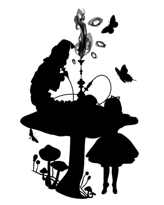 Alice In Wonderland Silhouette Clip Art.