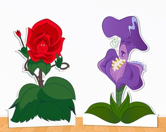 Alice in wonderland flowers clipart 4 » Clipart Station.