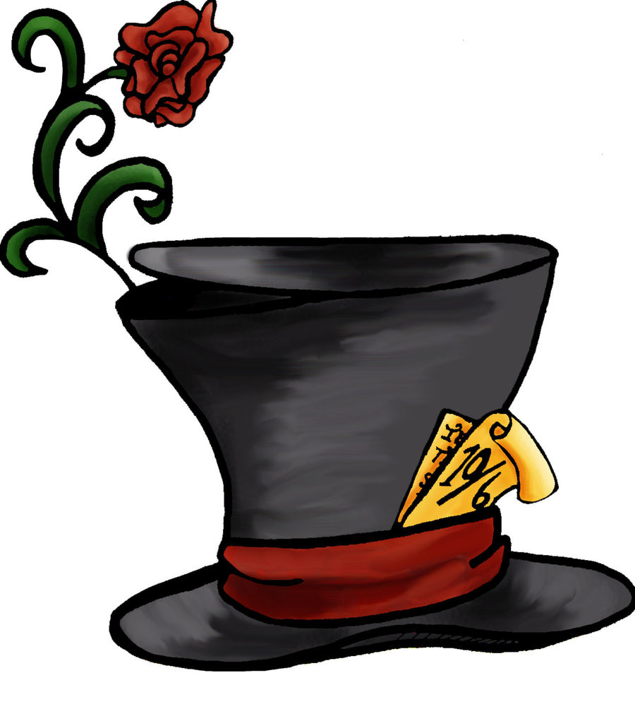 Free Mad Hatter Hat Silhouette, Download Free Clip Art, Free.
