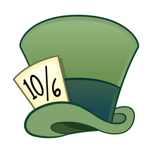 Mad Hatter Hat Clipart.