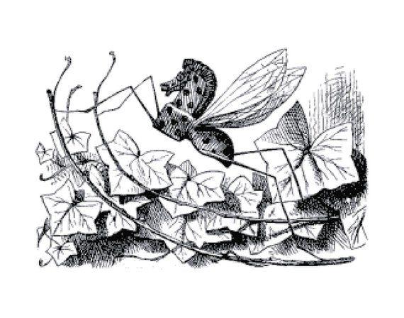 Handmade Alice in Wonderland Rocking Horse Fly Cross.