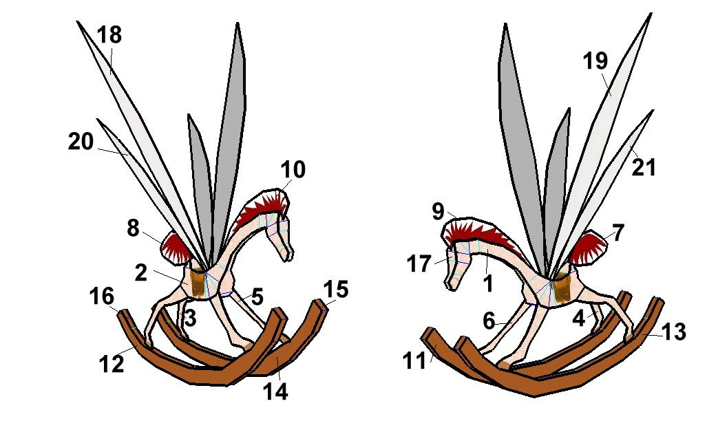 alice in wonderland rocking horse fly.
