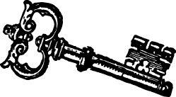 FREE vintage skeleton key clip art. I\'m visualizing a lot of.