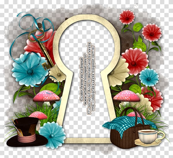 Keyhole illustration, Alice\\\'s Adventures in Wonderland.