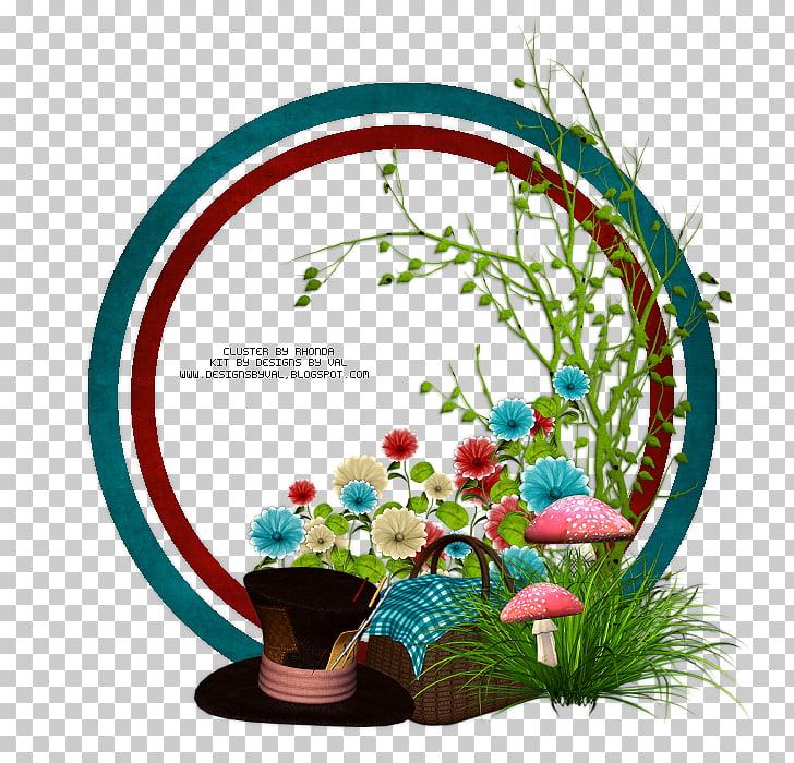 Flower Floral design July Email, alice in wonderland PNG.