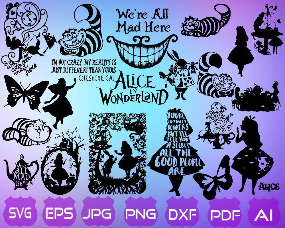 Alice Wanderland SVG.