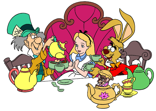 March Hare and Mad Hatter Clip Art.