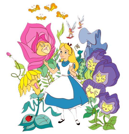 Alice In Wonderland Flowers Clipart.