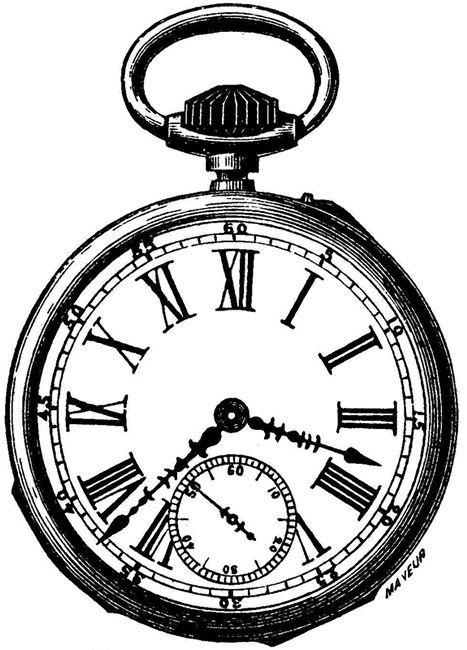 Alice In Wonderland Pocket Watch Clipart.