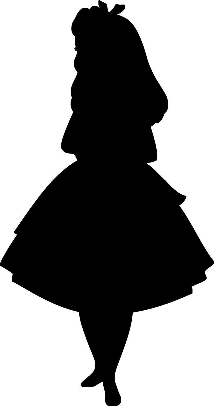 alice in wonderland silhouette free.