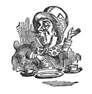 Alice in Wonderland Mad Hatter Clip Art.