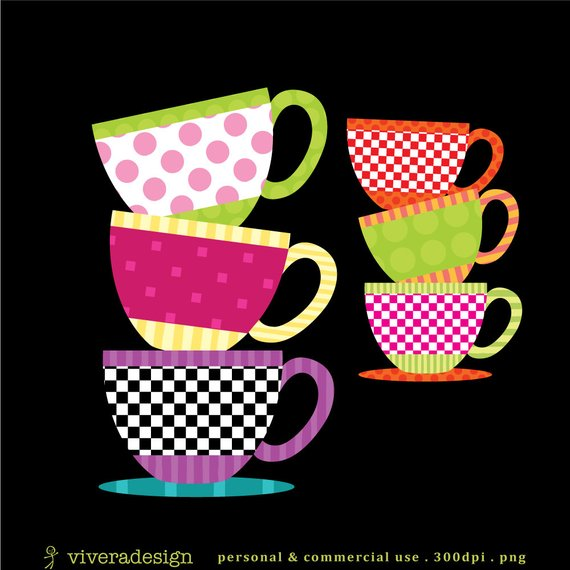 Patterned Teacup Clipart.