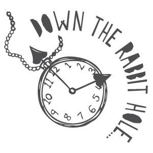Alice In Wonderland Clock Clipart.
