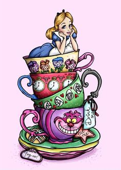 Vintage Clipart alice in wonderland 12.