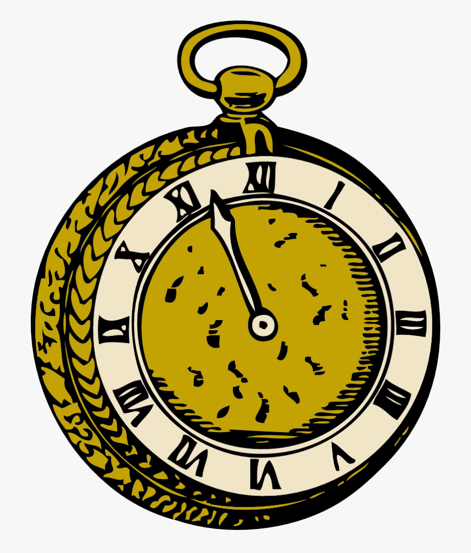 Alice In Wonderland Pocket Watch Clipart , Transparent.