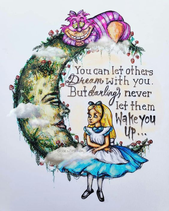 Alice In Wonderland Clipart Set, Watercolor Alice Clip Art.