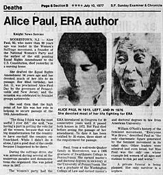 Alice Paul\'s quotes, famous and not much.