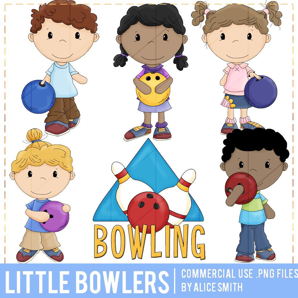 Little Bowlers Clip Art by Alice Smith.