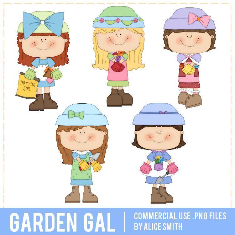 Garden Gal Clip Art by Alice Smith.