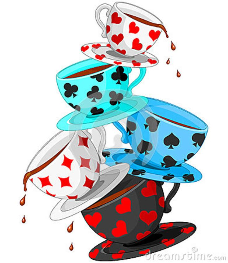 Alice In Wonderland Tea Cups Clipart.