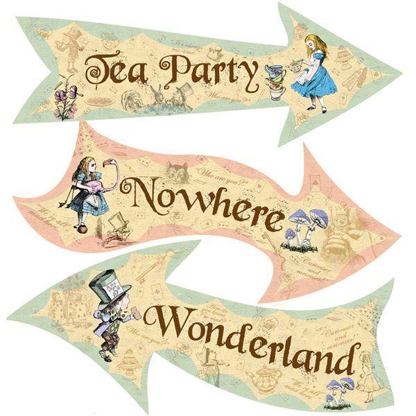 Beautiful vintage alice in wonderland signs.