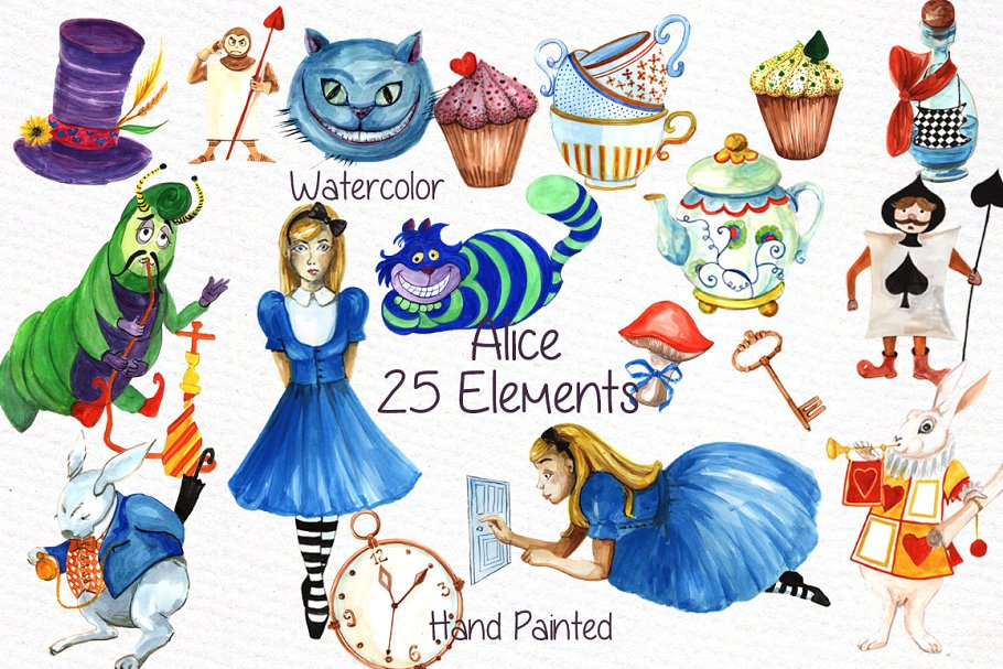 Alice in Wonderland clipart.