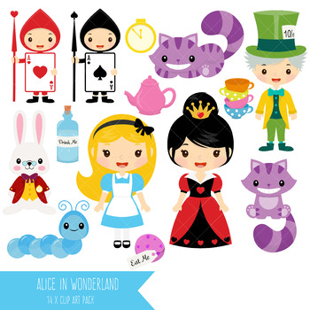 Alice in Wonderland Clip Art.