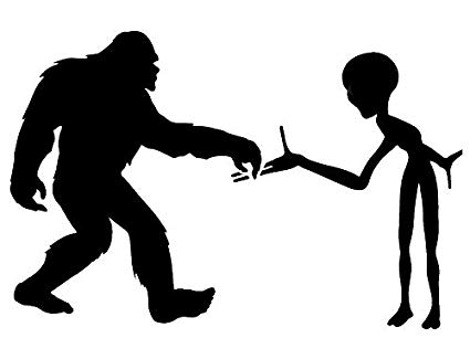 Bigfoot & Alien Sasquatch Yeti Stencil Mylar Aliens Big Foot Stencils.