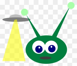Green Alien With Antenna Clipart.