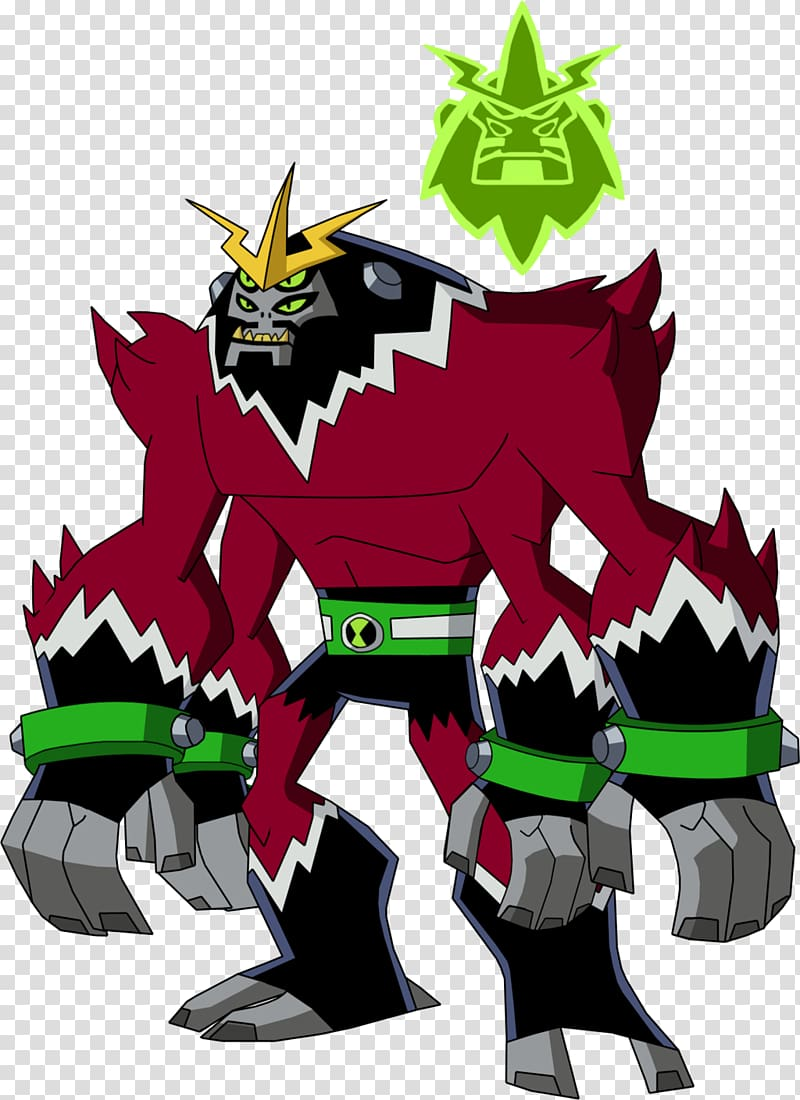Ben 10: Omniverse Alien Four Arms, others transparent.