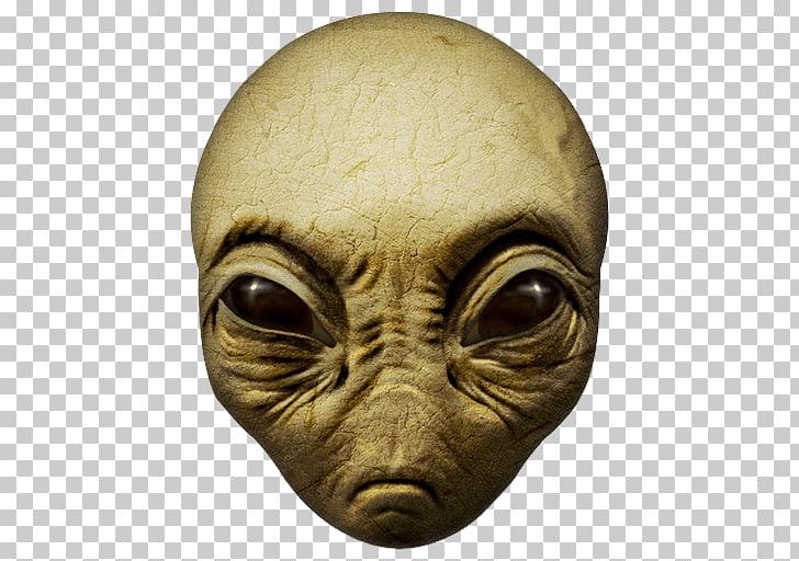 Alien Face Close Up, alien illustration PNG clipart.