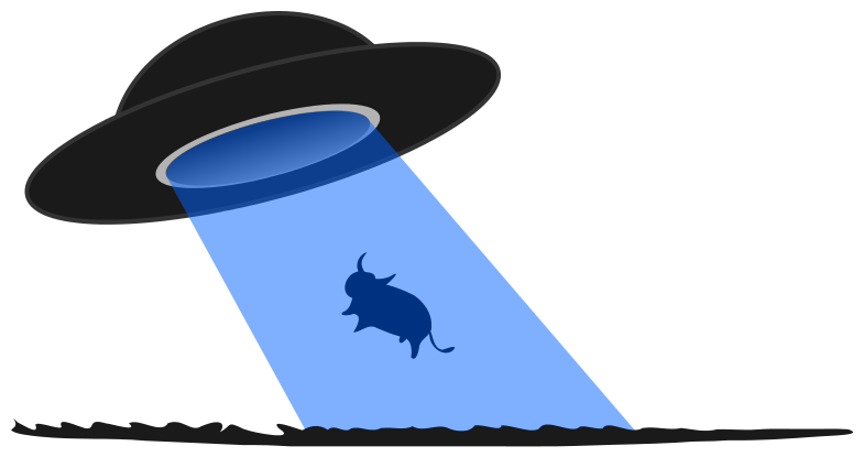 Alien And Spaceship Clipart.