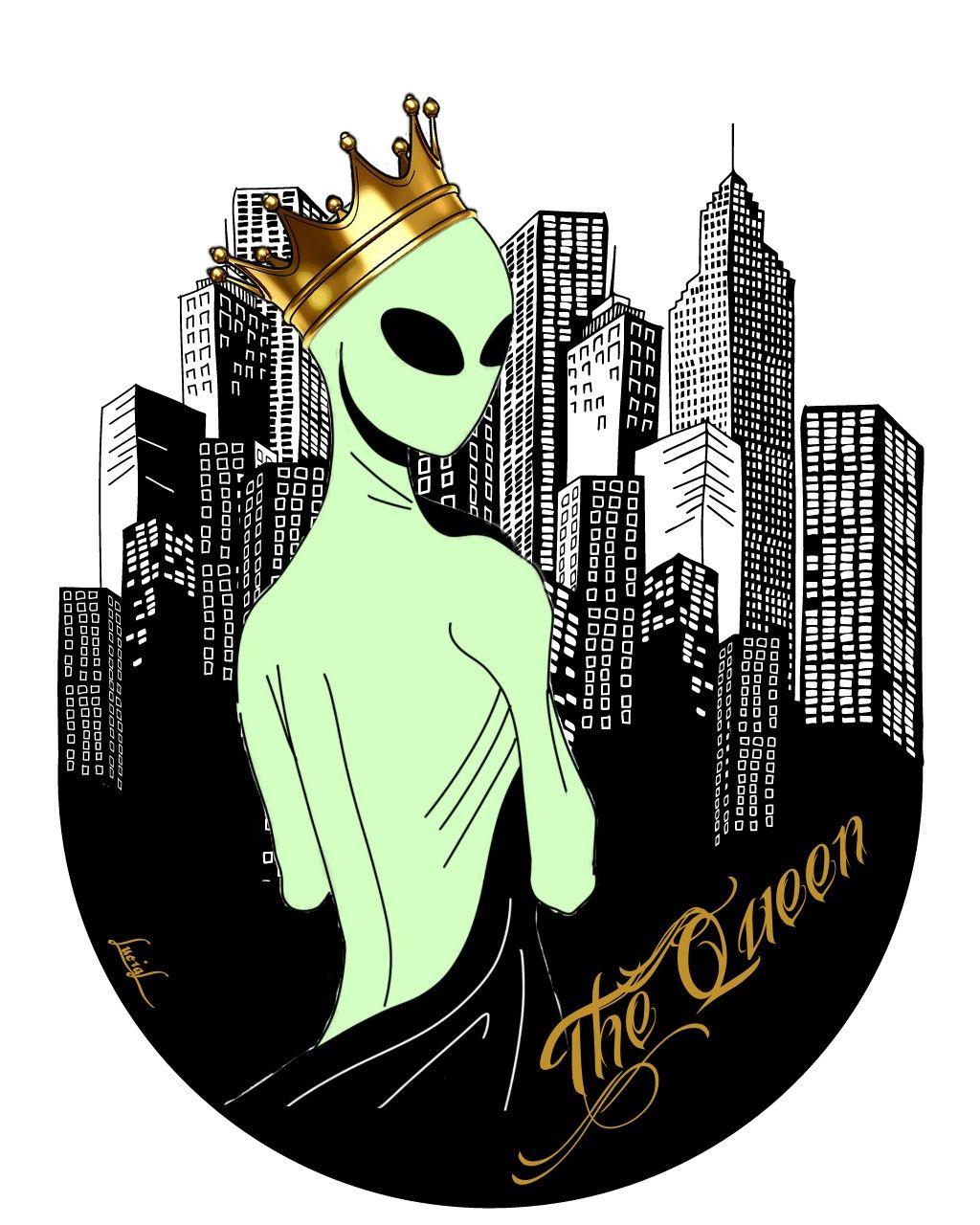 crown queen alien alienqueen city invasion aliensarerea.