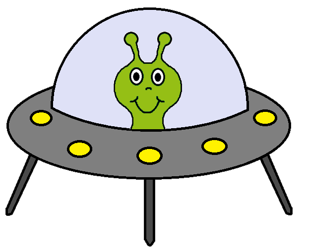 Cartoon alien clipart.