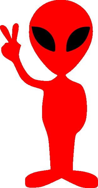 Red Alien Clipart.