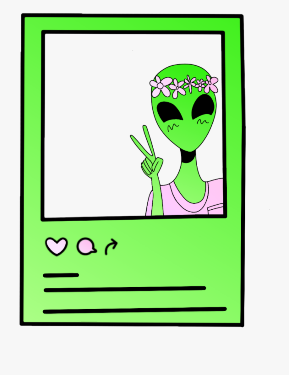 frame #ufo #alien #space #galaxy #border #freetoedit.