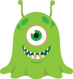 cute monster.