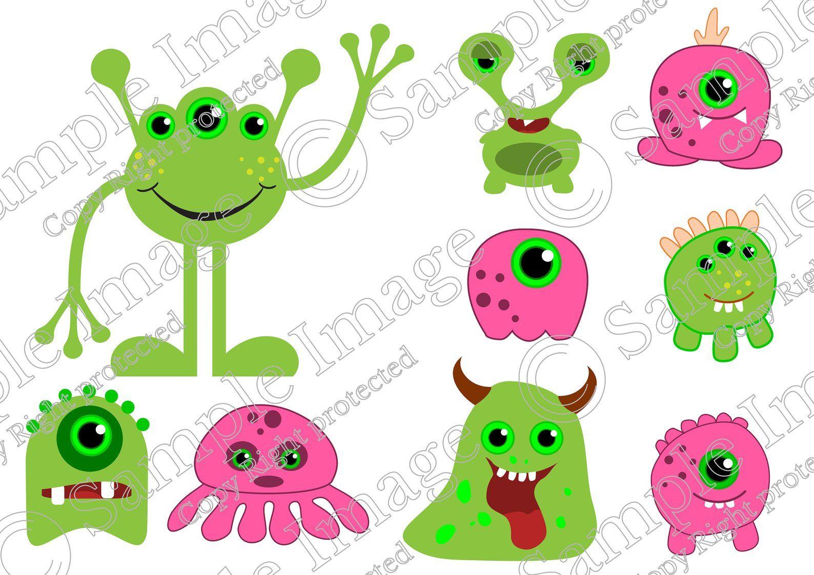 baby alien clipart, alien SVG, cute alien clip art for a.
