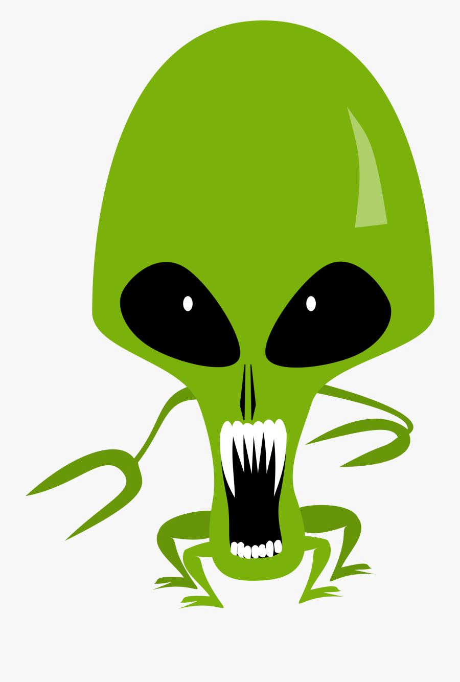 Clip Art Scary Ufo.