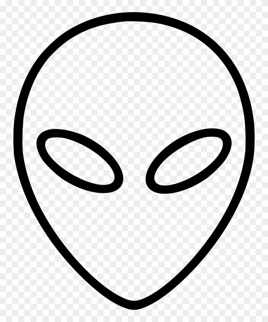 Alien Svg Head Clipart (#3048646).