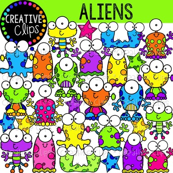 Alien Clipart Worksheets & Teaching Resources.